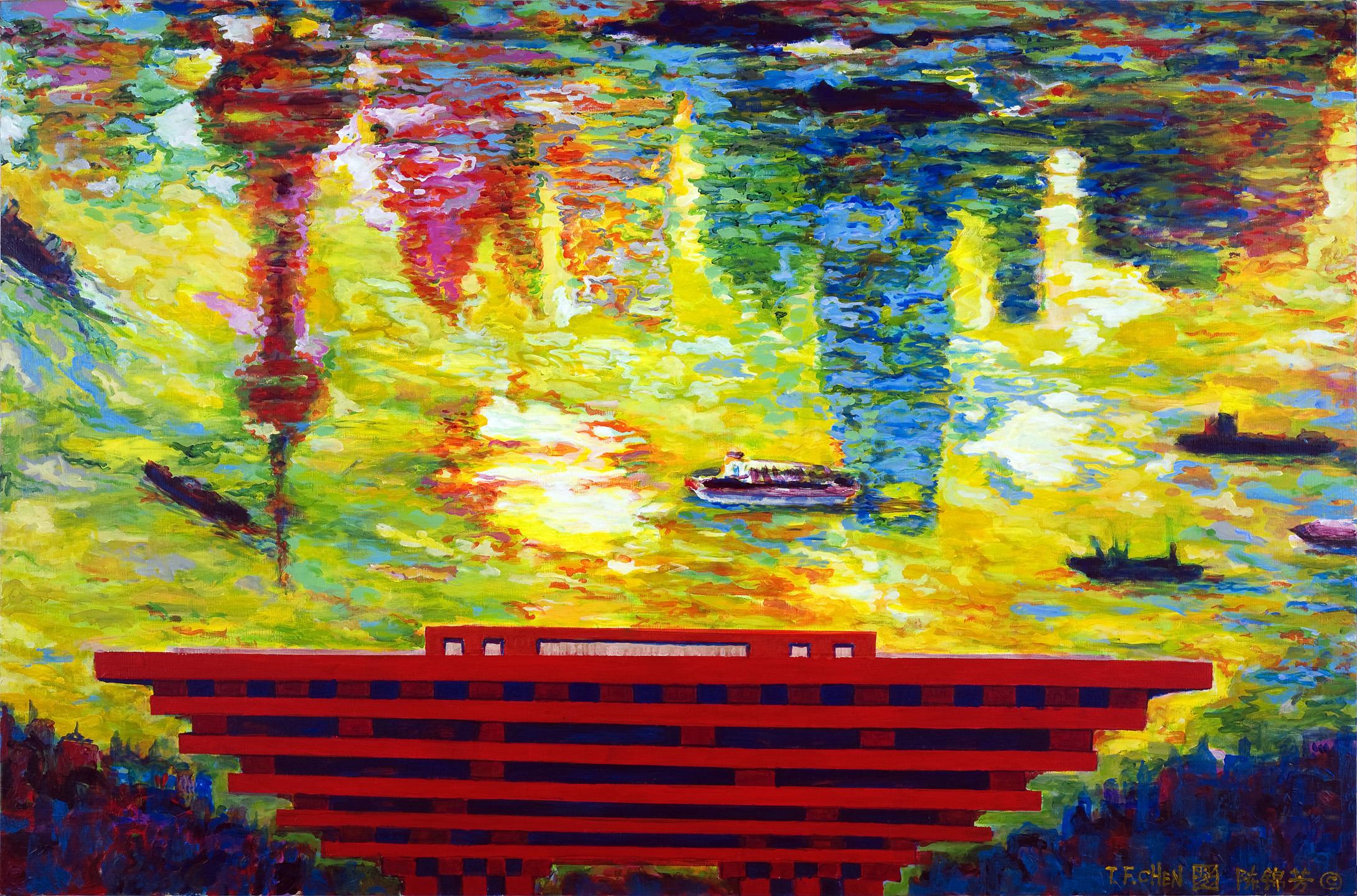 Shanghai Expo Dream upon Huangpu River